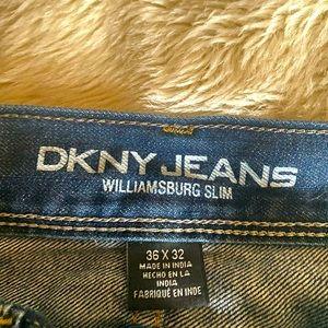 DKNY Williamsburg Slim 36x32 Men's Jeans